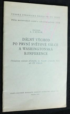 náhled knihy - Dálný Východ po první světové válce a Washingtonská konference