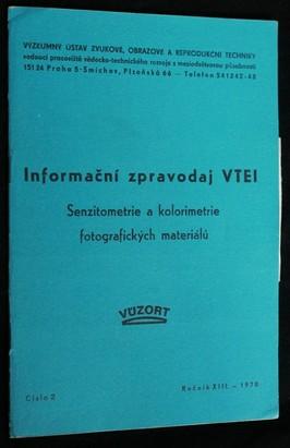 náhled knihy - Informační zpravodaj VTEI : Senzitometrie a kolorimetrie fotografických materiálů, č.2
