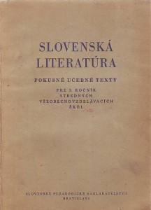 náhled knihy - Slovenská literatúra - pokusné učebné texty pre 3. ročník stredných všeobecnovzdelávacích škól