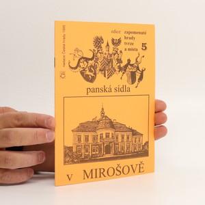 náhled knihy - Panská sídla v Mirošově