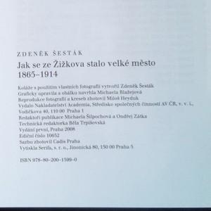 antikvární kniha Jak se ze Žižkova stalo velké město (1865-1914), 2008