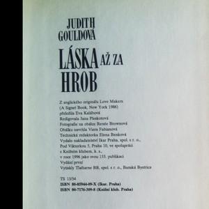 antikvární kniha Láska až za hrob, 1996