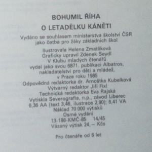 antikvární kniha O letadélku Káněti : veselé příhody pekelských dětí a jejich psa s malým letadlem, 1985