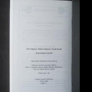 antikvární kniha Sexuologický slovník, 1994