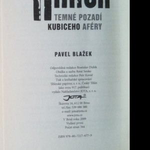 antikvární kniha Krach : temné pozadí Kubiceho aféry, 2009