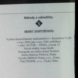 antikvární kniha Náhody a náhodičky s Marií Svatošovou, 2004