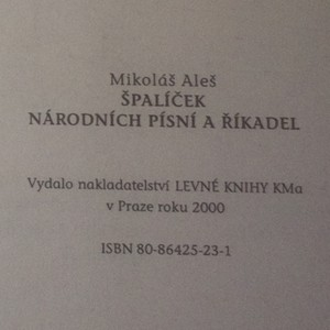 antikvární kniha Špalíček národních písní a říkadel, 2000