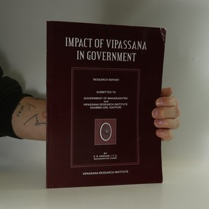 náhled knihy - Impact of Vipassana in Government
