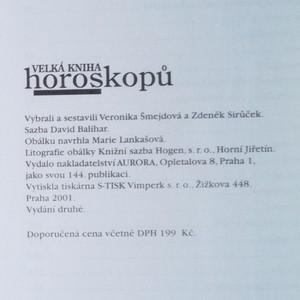 antikvární kniha Velká kniha horoskopů, 2001