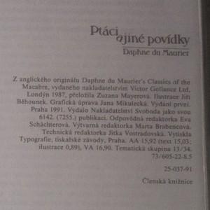antikvární kniha Ptáci a jiné povídky, 1991