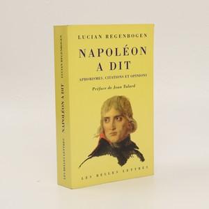náhled knihy - Napoléon a dit