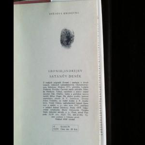 antikvární kniha Satanův deník, 1979