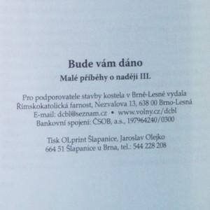 antikvární kniha Bude vám dáno. Malé příběhy o naději III., neuveden