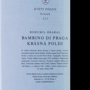 antikvární kniha Bambino di Praga ; Krásná Poldi, 2000