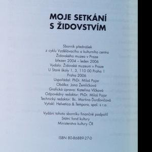 antikvární kniha Moje setkání s židovstvím, 2006