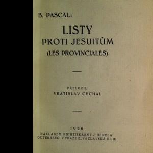 antikvární kniha Listy proti jesuitům : (Les provinciales), 1926