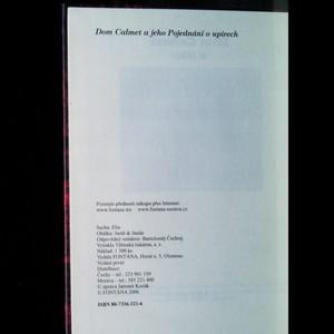 antikvární kniha Dom Calmet a jeho Pojednání o upírech, neuveden