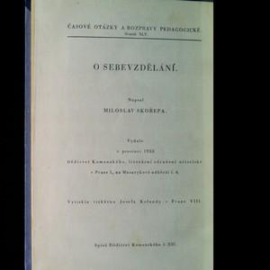 antikvární kniha O sebevzdělání, 1933