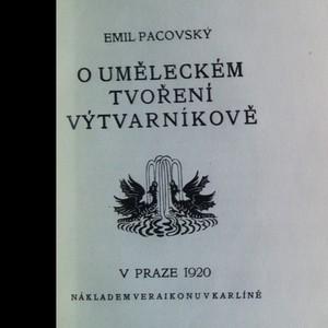 antikvární kniha O uměleckém tvoření výtvarníkově, 1920