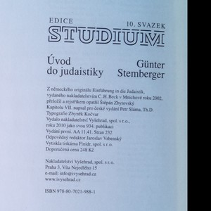 antikvární kniha Úvod do judaistiky, 2010