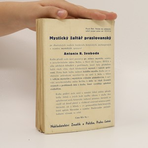 antikvární kniha Mystický žaltář praslovanský, 1946