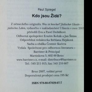 antikvární kniha Kdo jsou Židé?, 2007