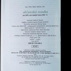 antikvární kniha Občanská nauka pro střední odborné školy a pro studijní obory SOU. 1, 1999