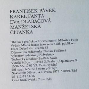 antikvární kniha Manželská čítanka, 1979