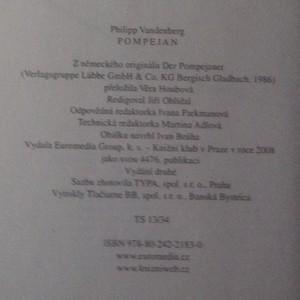 antikvární kniha Pompejan, 2008