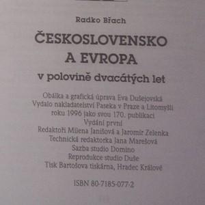 antikvární kniha Československo a Evropa v polovině dvacátých let, 1996