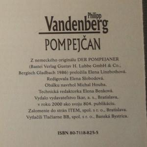 antikvární kniha Pompejčan (slovensky), 2000