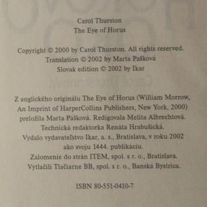 antikvární kniha Horovo oko (slovensky), 2002