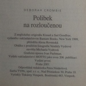 antikvární kniha Polibek na rozloučenou, 2001