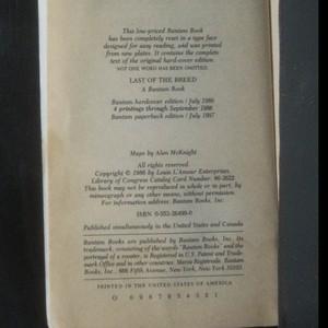 antikvární kniha Last of the Breed, 1987