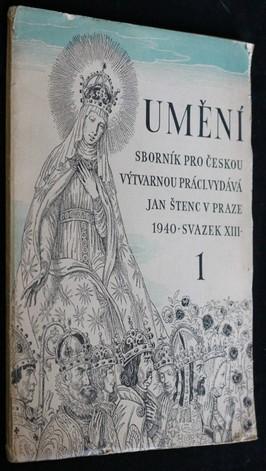 náhled knihy - Umění : sborník pro českou výtvarnou práci. Sv.13, sešit 1.