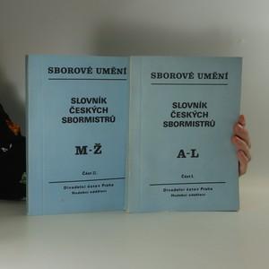 náhled knihy - Slovník českých sbormistrů. I. a II. část (svazky)