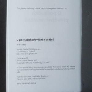 antikvární kniha O počítačích převážně nevážně, 2007