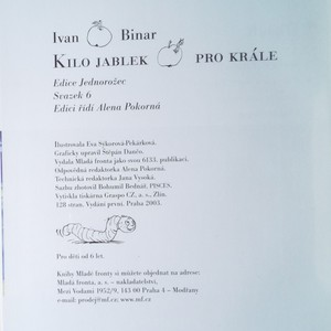 antikvární kniha Kilo jablek pro krále, 2003