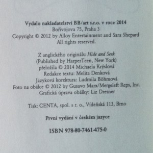 antikvární kniha Hra lží. Hra na schovávanou, 2014