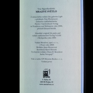 antikvární kniha Mrazivé světlo, 2008