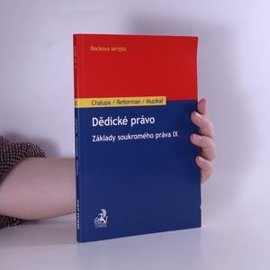 náhled knihy - Základy soukromého práva IX. Dědické právo