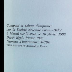 antikvární kniha De la cause de Dieu à la cause de la nation, 1998