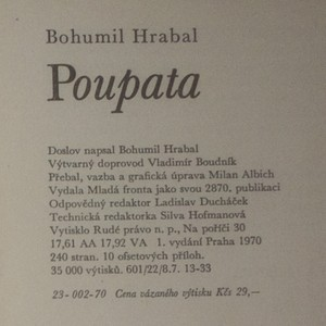 antikvární kniha Poupata : křehké i rabiátské texty z let 1938-1952, 1970