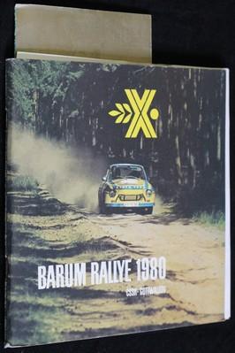 náhled knihy - Program X. Barum rallye