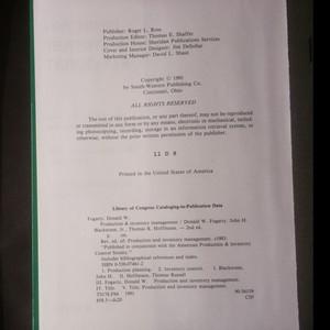 antikvární kniha Production & Inventory Management, 1991