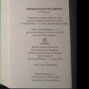 antikvární kniha Nepamatuji si své jméno, 2019