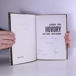 antikvární kniha Slovensko-české hovory (věnování autorky), 2017