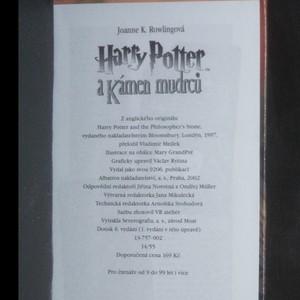 antikvární kniha Harry Potter a kámen mudrců, 2002