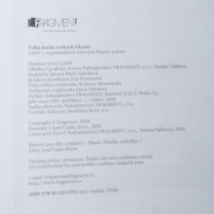 antikvární kniha Velká kniha českých říkadel : říkadla, písničky, rozpočítadla, 2009