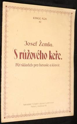 náhled knihy - S růžového keře : pět skladeb pro housle a klavír